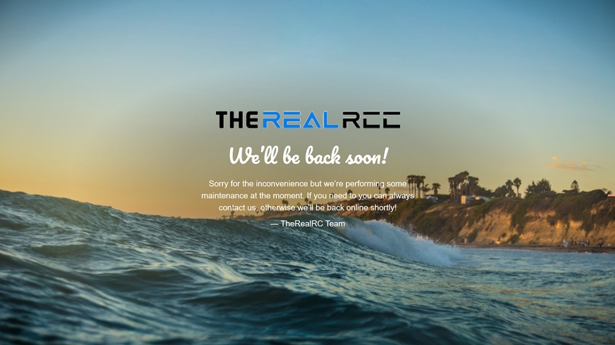 The Real RC web shop screenshot. Click the image to open their website.