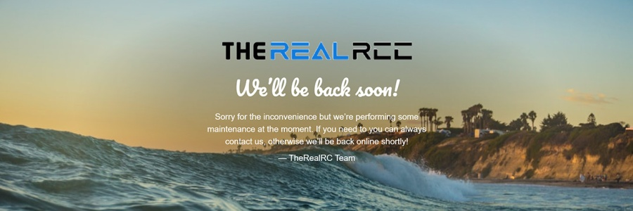 The Real RC website screenshot taken while in holiday mode