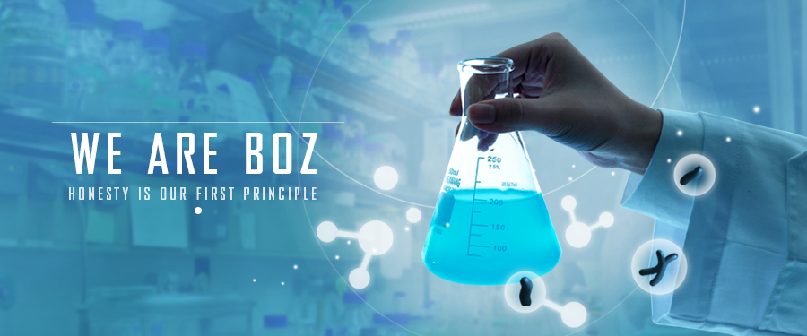 Web banner of BOZ, a chemical supplier from China