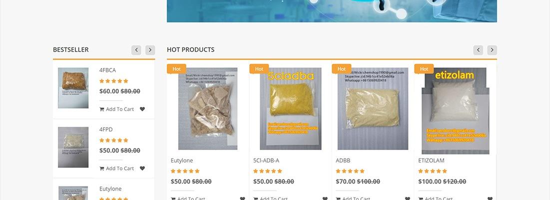 Screenshot of chem-vendor.com web shop in May 2020