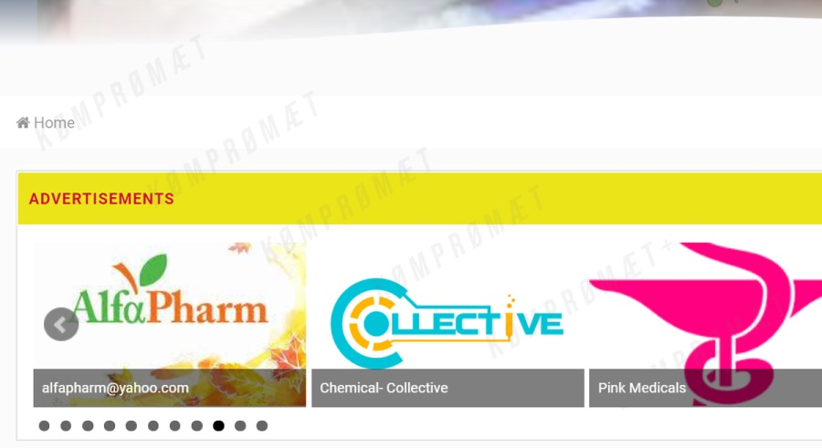 Chemical Collective advertises on illicit board next to fake meds ads