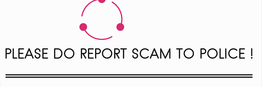 please do report scam to police