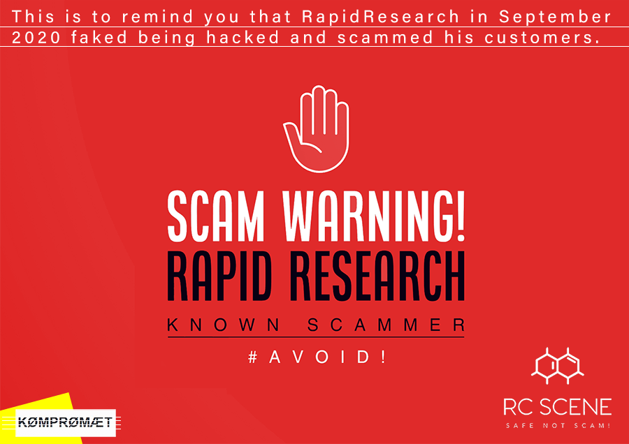 Rapid Research  Chemicals USA SCAM Warning