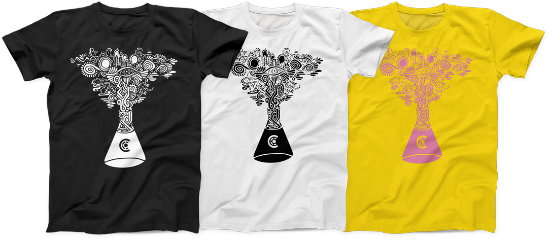 Chemical-Collective T-Shirts in black, white and yellow