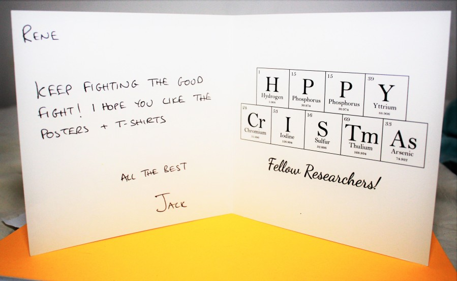 "XMAS card sent from Chemical Collective Jack to RC SCENE René. It says: ""René, Keep fighting the good fight! All the best, Jack"""
