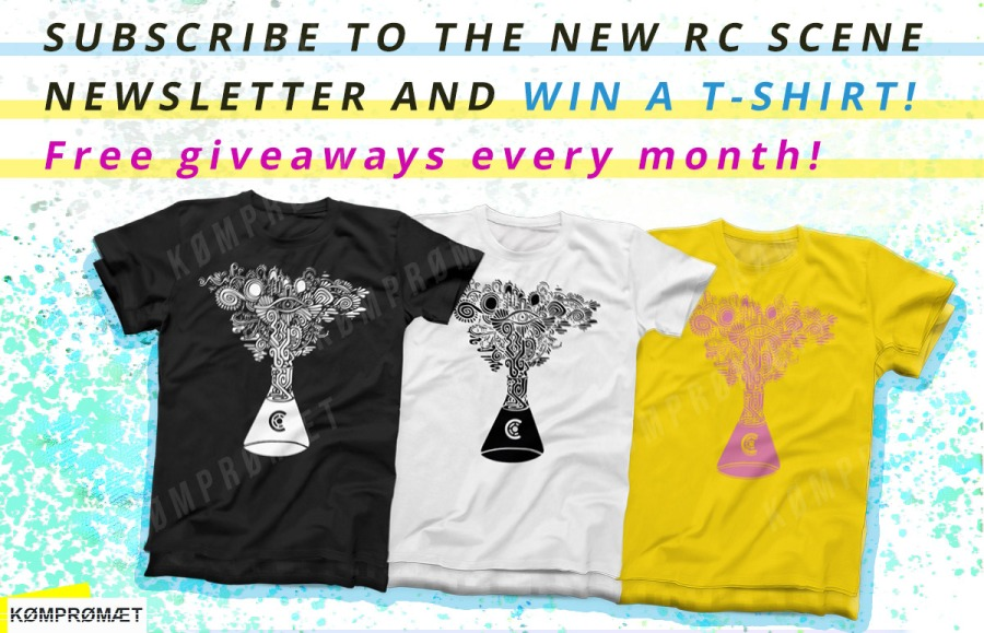RC SCENE Newsletter #1 Teaser Image with T-Shirts to win