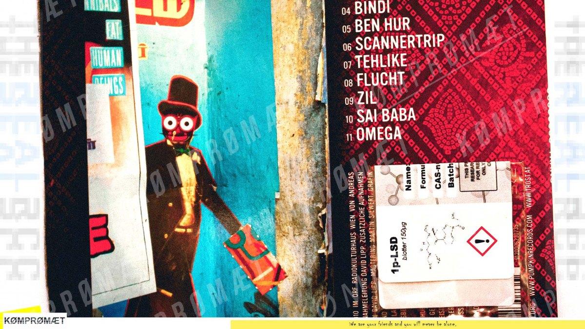 1P-LSD Blotterd on a CD Cover